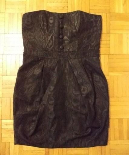 Sukienka ołówkowa gorsetowa czarna New Look 40 /42