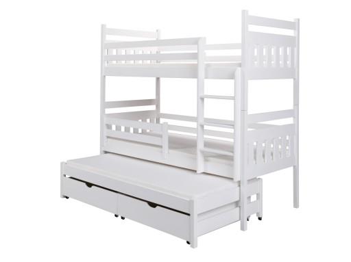 łóżko Piętrowe 3 Osobowe Zuzia 90x200 Materace