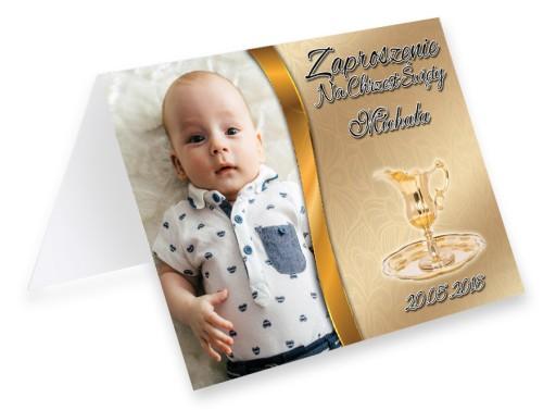 Zaproszenia Na Chrzest Chrzciny Ze Zdjeciem Gratis 7421547190 Allegro Pl