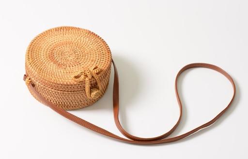 beffa7cbb0e8f Torebka okrągły koszyk na ramię WIKLINOWY BOHO 02 7390298144 ...
