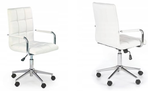 Fotel Do Biurka Gonzo 2 Białe Krzesło Obrotowe