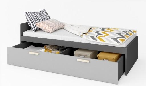 24h Młodzieżowe Pok łóżko Z Materacem I Szufladą 6989617783 Allegropl