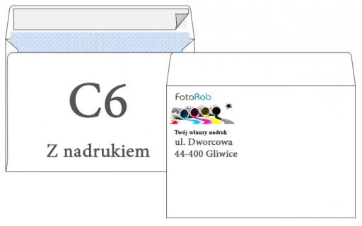 Koperty Firmowe C6 500 z własnym nadrukiem 4/0