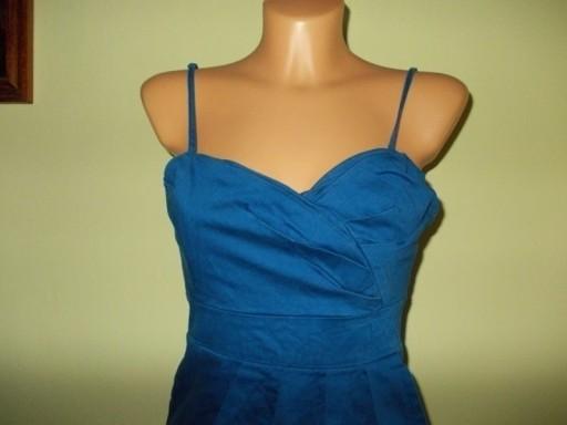 Sukienka ołówkowa gorsetowa ramiączka blue BAY 38