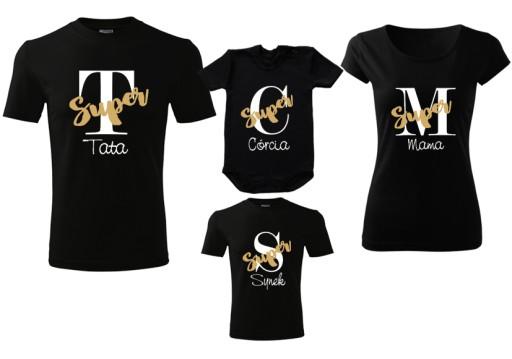 Zestaw Koszulek Dla Rodziny Mama Tata Syn Corka 7635959301 Allegro Pl