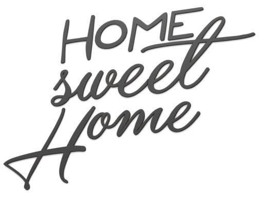 Drewniany Napis 3D na ścianę HOME Sweet Home