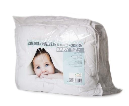 POLSKA pościel 100x135 kołdra poduszka do łóżeczka
