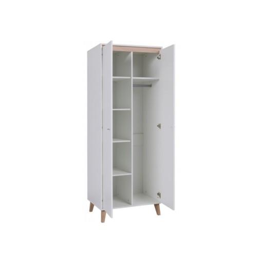 AVILES szafa 2-drzwiowa 80 cm - SKANDYNAWSKI STYL