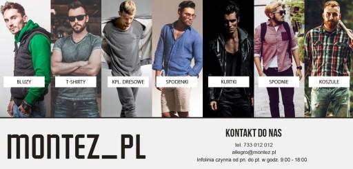 KOSZULA MĘSKA CASUALOWA BOTTON-DOWN MONTEZ_PL XXL
