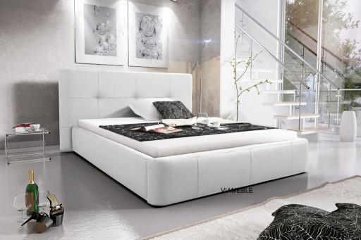 łóżko Do Sypialni 140 X 200 Materac Pojemnik Tanio
