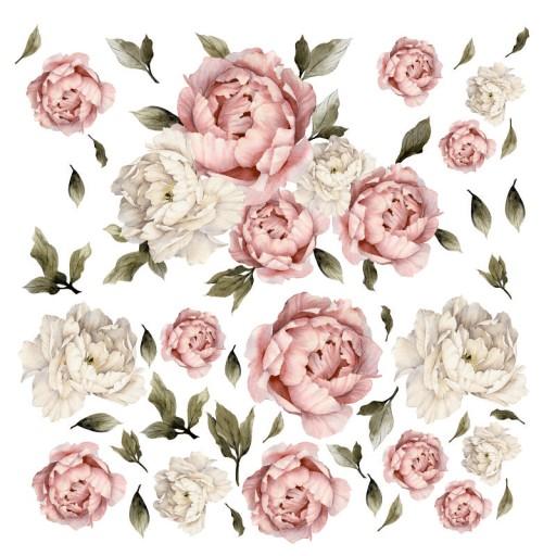 Piwonie Kwiaty Naklejki Na Sciane Komplet Xxl 7446076515 Allegro Pl