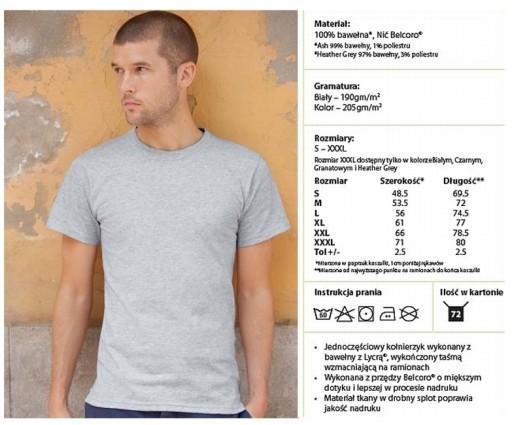 FRUIT OF THE LOOM Premium NAJGRUBSZY t-shirt - r.M