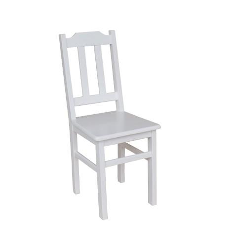 Krzesło Kuchenne Drewniane Sosnowe Solidne Białe