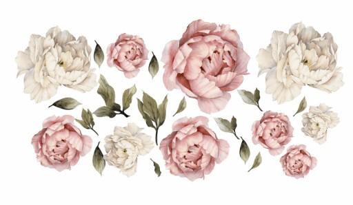 Piwonie Kwiaty Naklejki Na Sciane Duzy Komplet 7386255035 Allegro Pl