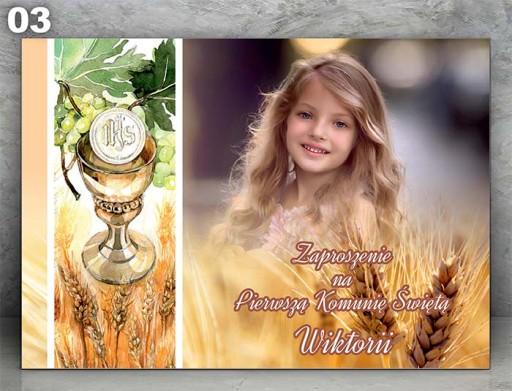 Zaproszenia Komunijne Ze Zdjęciem 7216708856 Allegropl