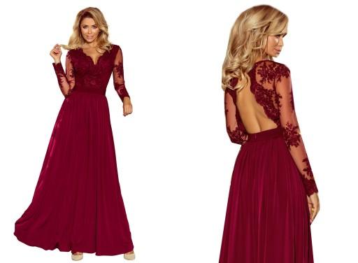 20534c1e66 HAFTOWANA DŁUGA Sukienka SUKNIA NA WESELE 213-2 L 7598930249 ...