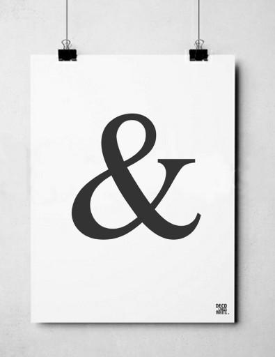 Plakat Typograficzny 50x70 Cm Alfabet Napisy And