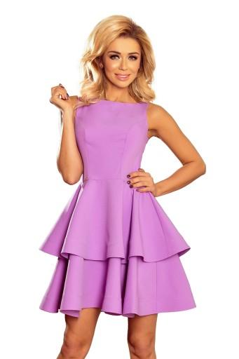 972b0fb110 sukienka rozkloszowana falbanki studniówka weseleL (7251120562 ...