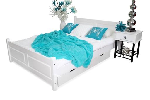 łóżko Drewniane Lena 120x200 Stelaż Materac Spręż
