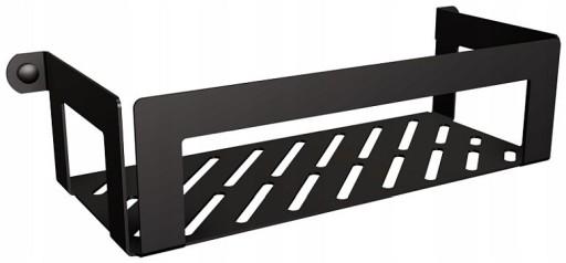 Półka Koszyk łazienka Prysznic Czarny Technic 328