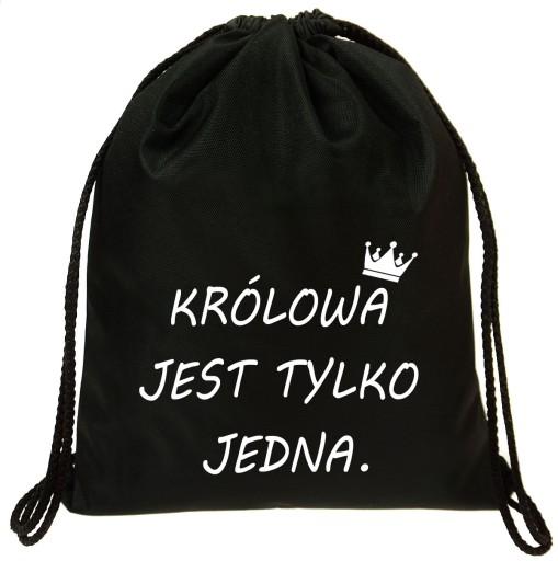 Worek Plecak Fullprint Druk Sale Krolowa 7283213073 Allegro Pl