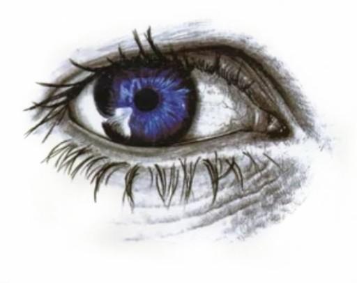 Oczy Naklejki Tatuaże Tymczasowe Błękitne Oko 155