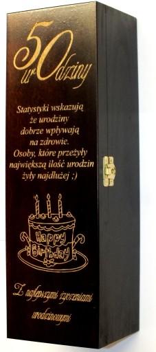 Skrzynka Na Wino Grawer Urodziny Imieniny Prezent 4977956900