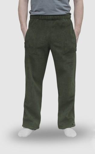 Spodnie Polarowe Dresowe Męskie Polar r L zieleń