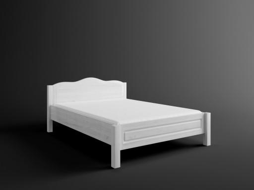 łóżko Sosnowe Białe Merida 120x200 Sypialnia