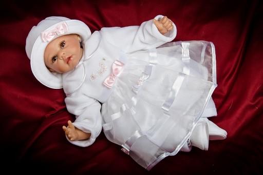 Jesienno-zimowa Polarowa Sukienka do Chrztu KASIA