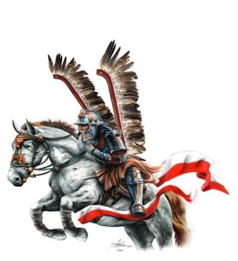 Naklejka Husarz Husaria Husar Auto Tatuaż 106179 7507207053