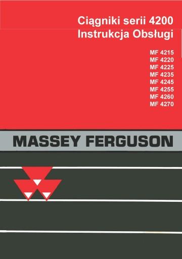 Instrukcja MF 4215 4220 4225 4235 Massey Ferguson