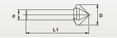 Pogłębiacz fazownik wieloostrzowy 25mm 120stopni