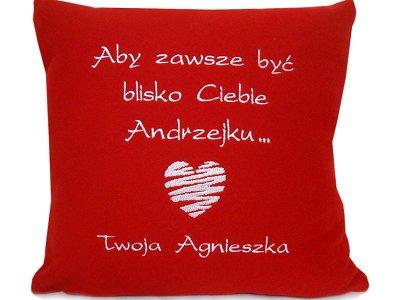 Poduszka Z Dedykacja Prezent Walentynki Chlopaka 7764047937 Allegro Pl