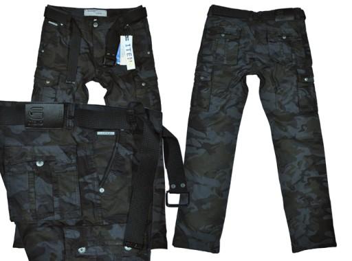 BojÓwki męskie Iteno 2096-1 moro czarne pas 114/42 7961945656 Odzież Męska Spodnie FB HREEFB-1