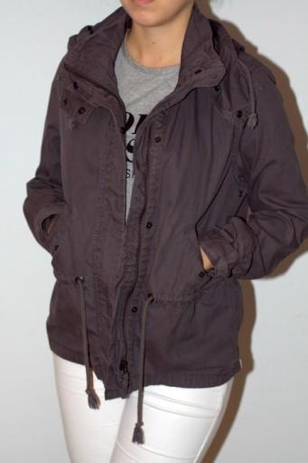 Grafitowa kurtka na jesień parka M H&M
