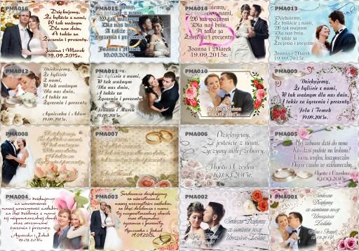 Podziękowania dla gości ślub Foto Magnes 10x7cm