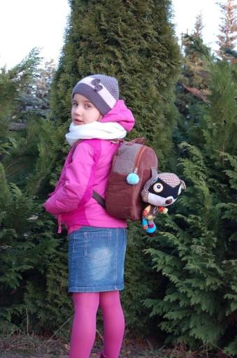Plecak BRĄZOWY ECOSNOOPERS dla dzieci SZOP wys24h