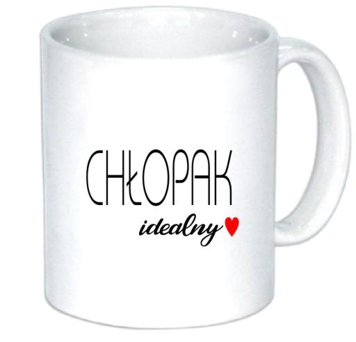 Kubek Chlopak Idealny Walentynki Chlopaka Prezent 7546190980 Allegro Pl
