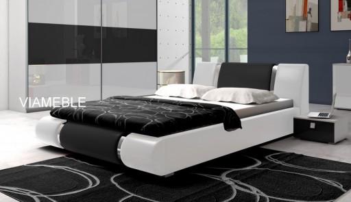 łóżko Sypialniane Z Materacem Pojemnikiem 140x200