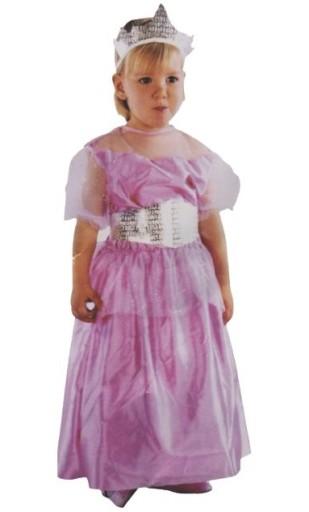 Strój Księżniczka Różowa Śpiąca Królewna S 80-86cm