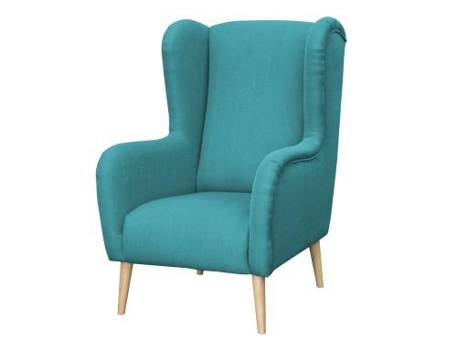 30 Fotel Uszak Retro Skandynawski Modern 13 Kolo