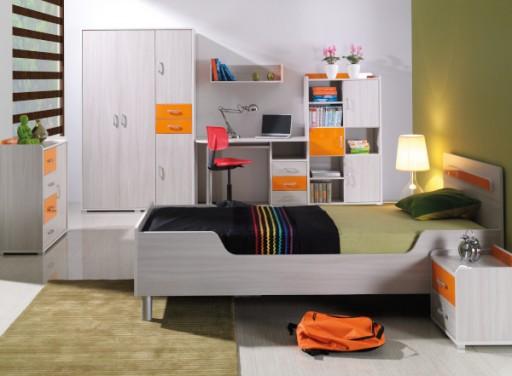 Nowoczesne Stylowe Białe łóżko Młodzieżowe 90x200