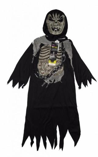 STRASZNY strój karnawałowy kostium Halloween 7-8 l