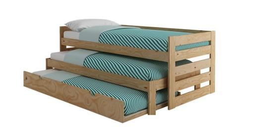 łóżko Piętrowe 3 Osobowe 3 Materace 200x90 Mocne