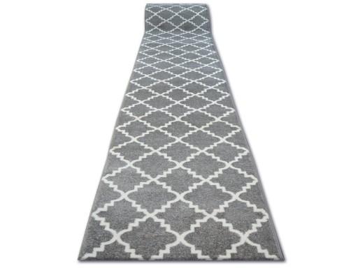 Dywany łuszczów Chodnik 80cm Koniczyna Fryz Szary