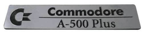 Badge sticker znaczek Amiga 500 Plus