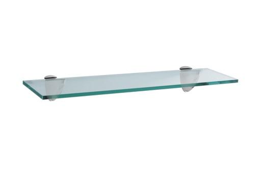 Szklana Półka Pod Lustro Z Uchwytami łazienka 40cm