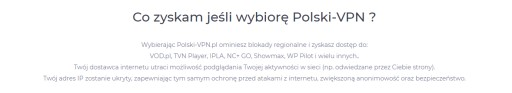polski-vpn.pl Polski IP, transfer bez limitu, 3mc