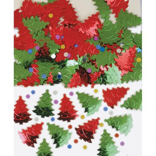 Konfetti Choinki święta Boże Narodzenie Dekoracja